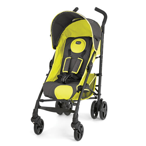 Chicco Liteway Stroller in gray with bright sunshine yellow accents - Wave