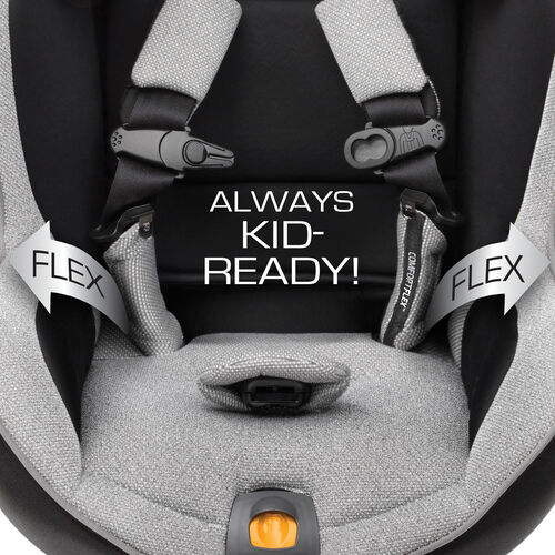 ComfortFlex™ harness holds straps out of the way for easy loading and unloading of your NextFit Convertible Car Seat
