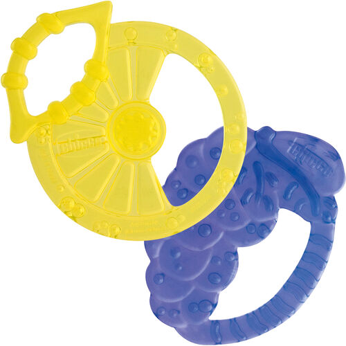 Chicco NaturalFit 2M+ Soft Silicone Lemon and Grape Fruit Teethers (2 pack)