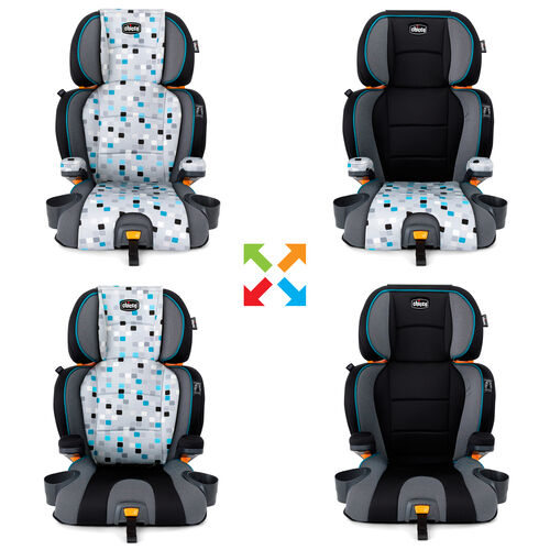 Zip & Mix & Match features allow you to switch up the look of your KidFit Zip 2-in-1 Belt Positioning Booster Car Seat