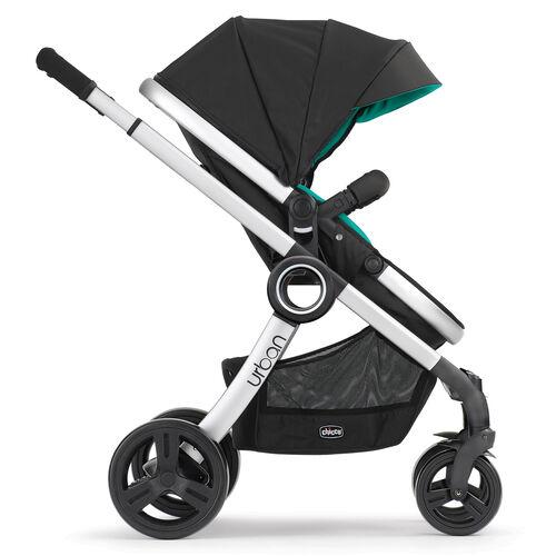 Chicco Urban 6-in-1 Modular Stroller in forward-facing toddler stroller mode