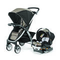 The Bravo Trio Travel system includes the Bravo Stroller and KeyFit 30 infant car seat and base