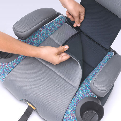 Zip off the bottom of the KidFit Zip booster car seat