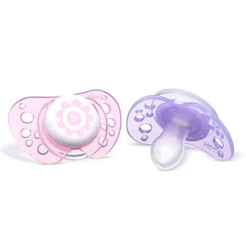 NaturalFit Flair  0-6M Set of 2 Pacifiers - Pink in
