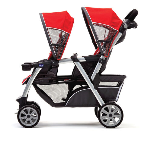Perfect for 2 growing toddlers, the cortina together easily converts into a 2 seated passenger ride