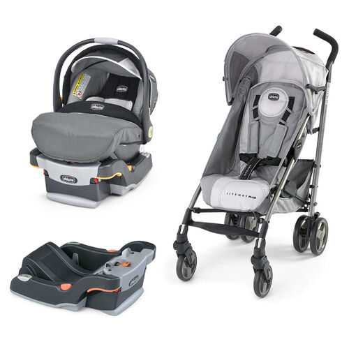 Mix and match styles with this KeyFit 30 Infant Car Seat and Liteway Plus Stroller bundle with a free extra KeyFit Base