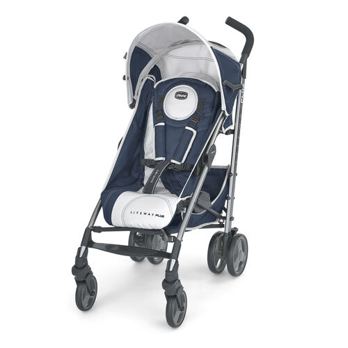 Chicco Liteway Plus Stroller in navy blue and silver - Equinox style