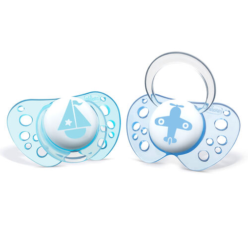 NaturalFit Flair 0-6M Set of 2 Pacifiers - Blue in