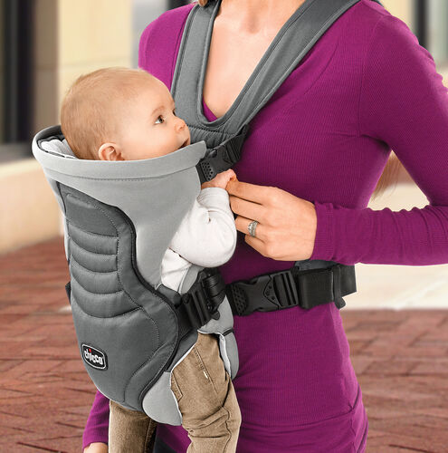 Baby can face inward in the Coda Carrier for snuggling with mom