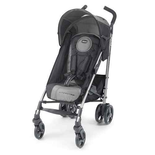 Chicco Liteway Plus Stroller in black and steel gray - Legend style