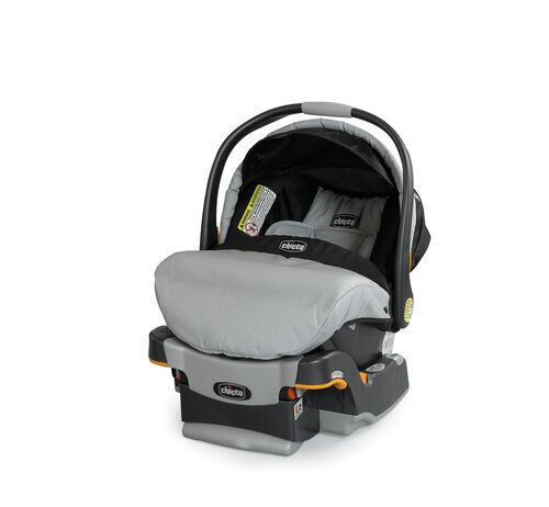 Chicco Romantic KeyFit 30 Infant Car Seat and Base in black and grey