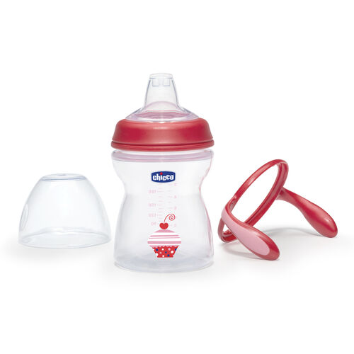 Chicco NaturalFit Transition Cup handles are removable and can be used with any NaturalFit Baby Bottle