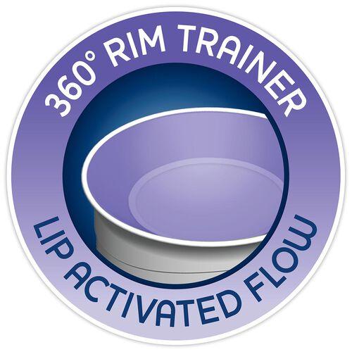 NaturalFit 7oz 360° Rim Trainer Cup w/ Handles - Pink in