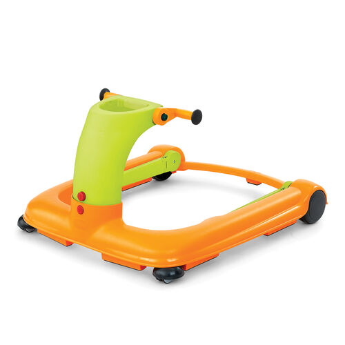 The Chicco 1-2-3 Walker converts to a push-behind walker