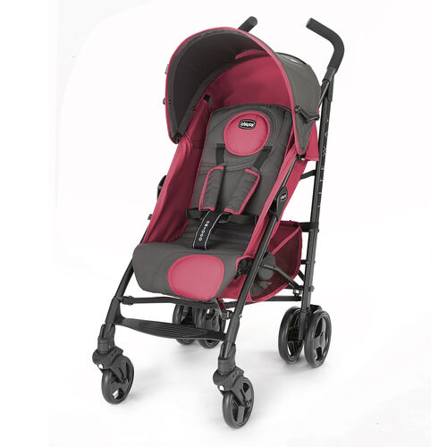 Chicco Liteway Stroller in dark gray and muted dusty rose - Ibiza