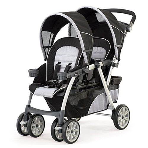 Chicco Cortina Together Double Stroller in black gray and white Romantic fashion