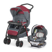 The Cortina CX travel system includes the Cortina CX stroller with one-hand fold, stand-alone capabilities when folded, and includes  the KeyFit 30 infant car seat