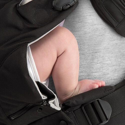 The Close To You Baby Carrier has a unique padded footrest for infants