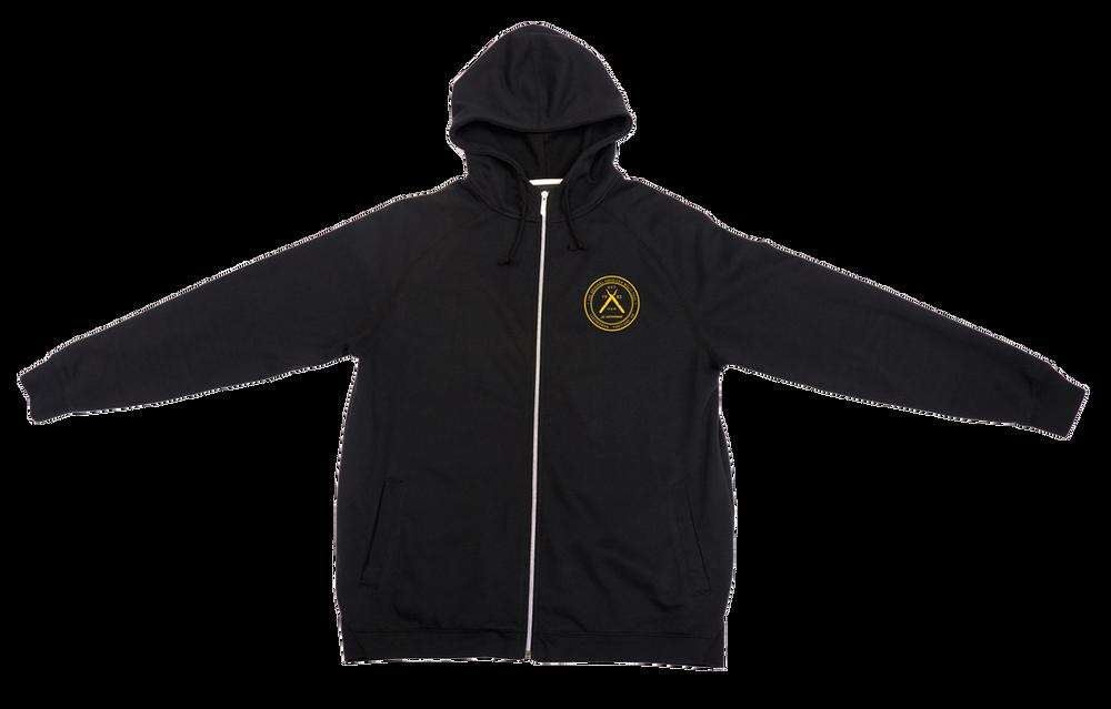 Black Logo Zip-front Sweatshirt