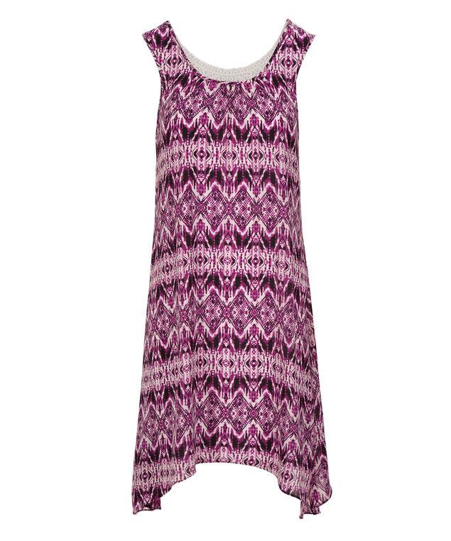 Crochet Sharkbite Dress, White/Purple, hi-res