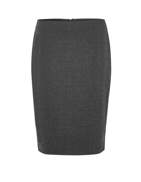 Charcoal Suiting Pencil Skirt, Charcoal, hi-res