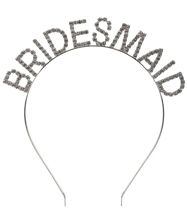 Bridesmaid Headband, Rhodium, hi-res