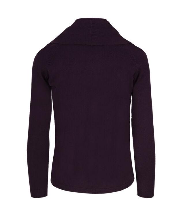 Fine Gauge Circle Cardi, Dark Purple, hi-res