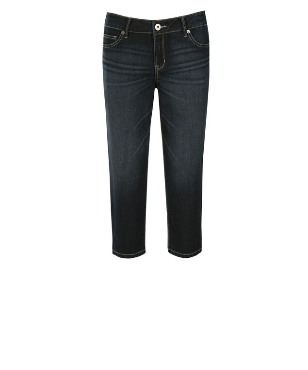 Claire Ultra Soft Dark Wash Capri, Denim, hi-res