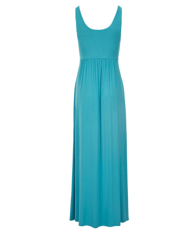 Grommet Waist Maxi Dress, Ocean Blue, hi-res