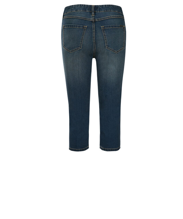 Ultimate Power Stretch Jegging Capri, Denim, hi-res