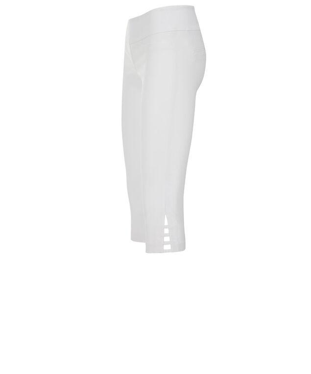 Microtwill Super Slim Cut Out Capri, True White, hi-res