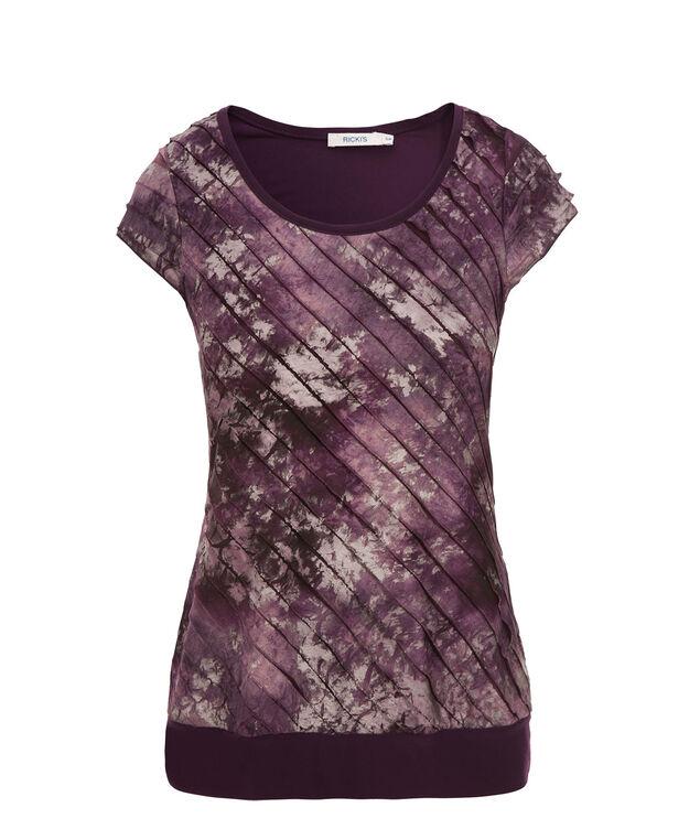 Extended Sleeve Eyelash Cha Cha, Purple Print, hi-res