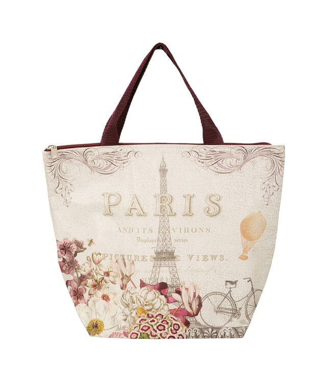 Paris Lunch Tote, White, hi-res