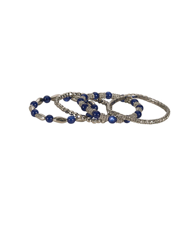 Sapphire Bracelet Set, Sapphire/Rhodium, hi-res
