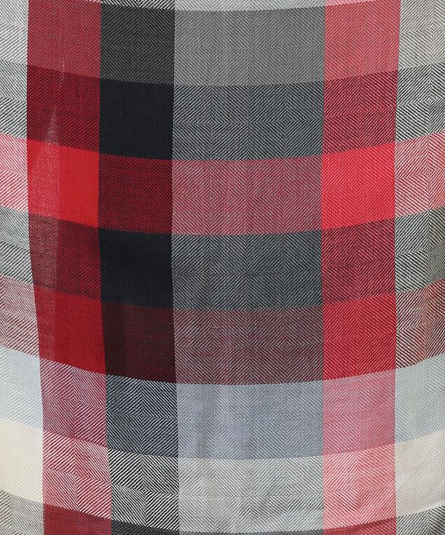 plaid infinity scarf, RED PLAID, hi-res