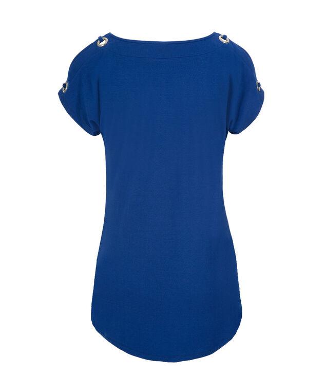 Grommet Cold Shoulder, Marine Blue, hi-res
