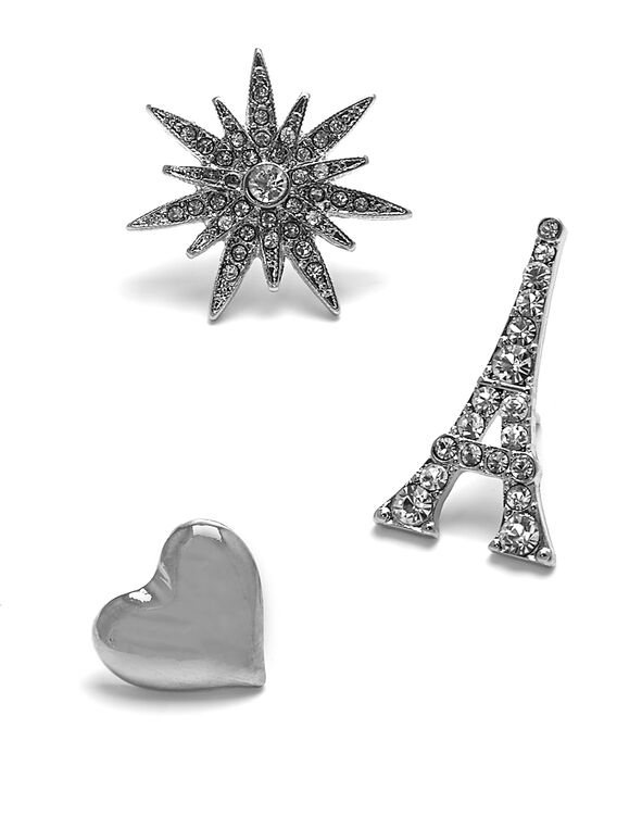 Silver Romance Jewel Pin Set, Silver, hi-res