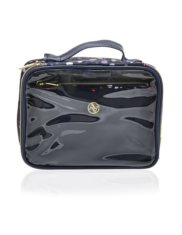Navy Cosmetic Travel Set, Navy, hi-res