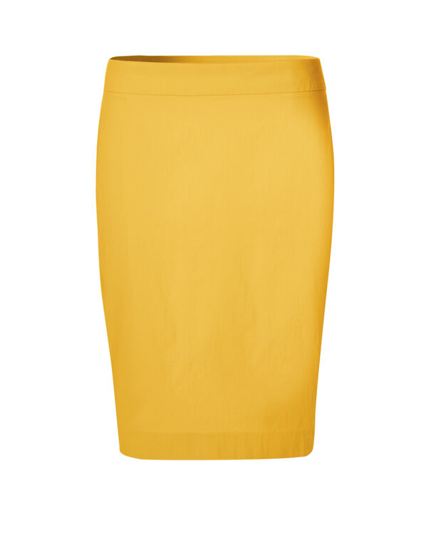 Saffron Signature Pencil Skirt, Saffron, hi-res