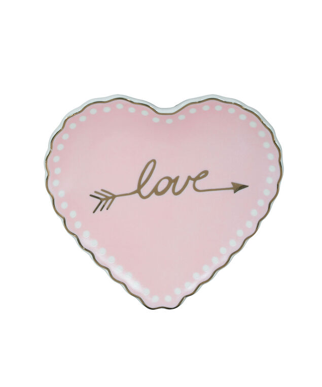 Love Jewellery Tray, Pink/Gold, hi-res
