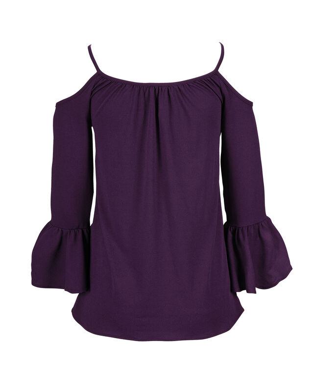 Cold Shoulder Bell Sleeve, Purple, hi-res