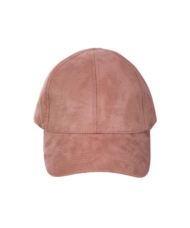 Faux Suede Baseball Cap, Blush Pink, hi-res