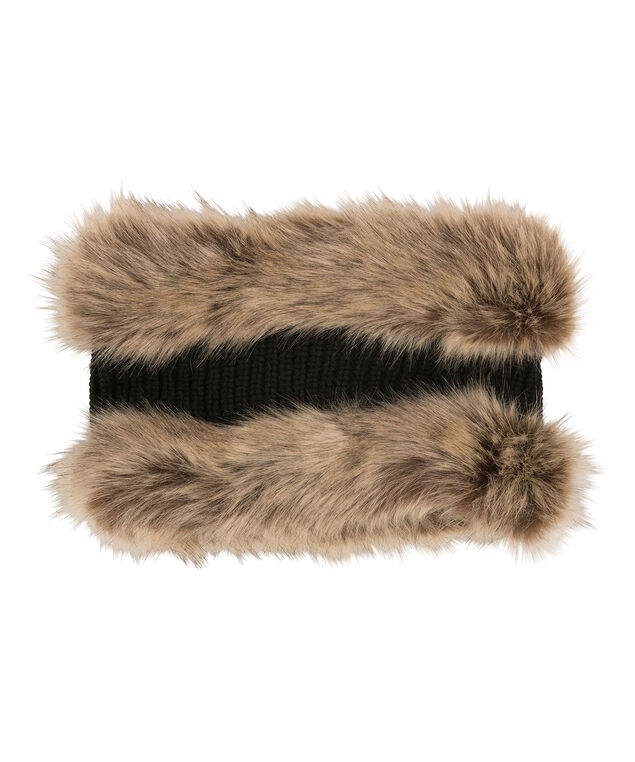 Faux Fur Snood, Natural/Brown, hi-res