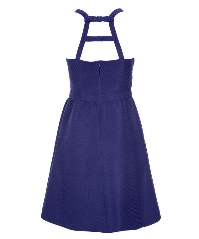 Jacquard Polka Dot Dress, Royal Blue, hi-res