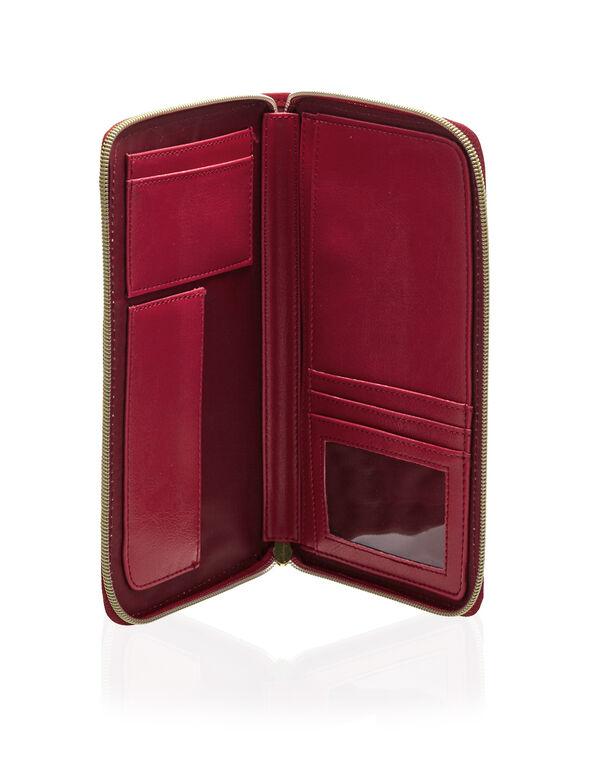 Passport Wallet, Red, hi-res