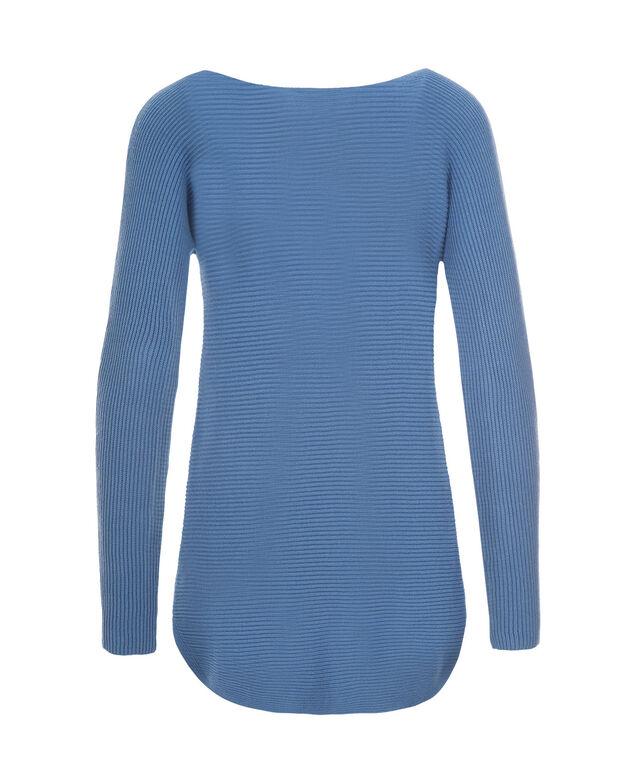 Ribbed Tunic, Sea Blue, hi-res