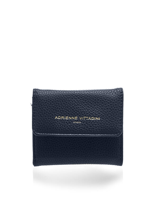 Navy Pebble Coin Purse, Navy/Gold, hi-res
