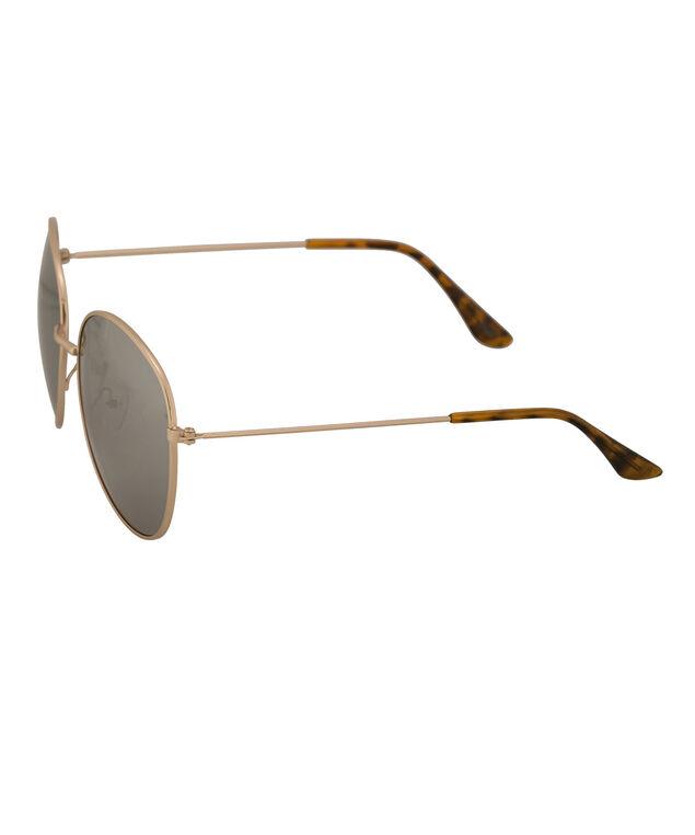 Metal Frame Aviator Sunglasses, Gold, hi-res