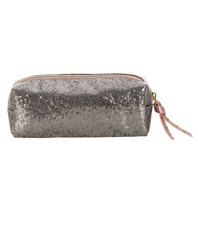 Sparkle Cosmetic Case, Pink/Grey, hi-res