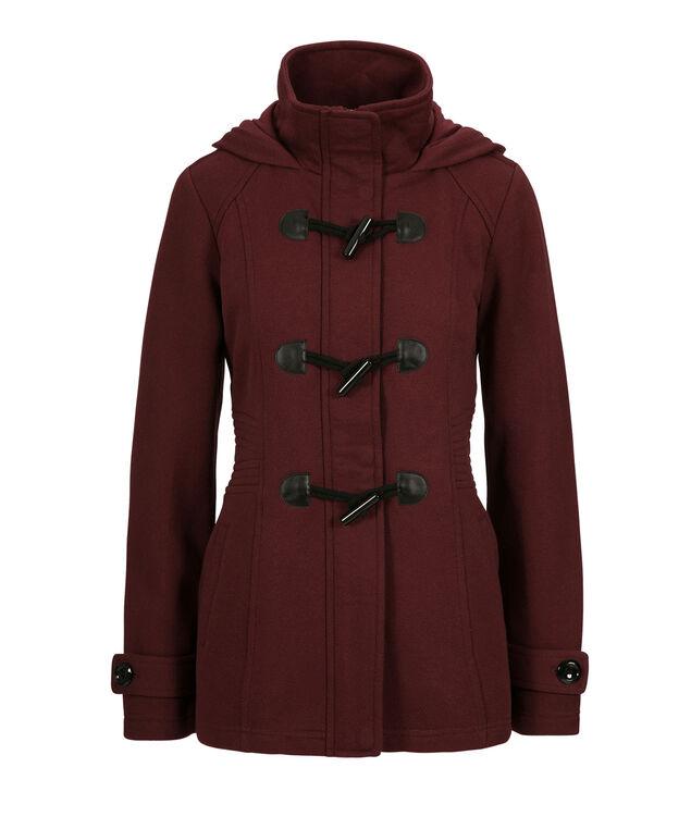 Knit Toggle Jacket, Burgundy, hi-res